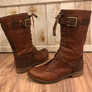Timberland Leather/Suede Lace Up Boots